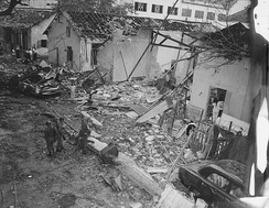 Brinks Hotel, Saigon, following a Việt Cộng bombing on Dec. 24, 1964. Two American officers were killed.