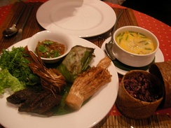 An example of Lao cuisine
