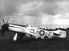 North American P-51D-10-NA Mustang Serial 44-14156 (CL-F) of the 338th Fighter Squadron.