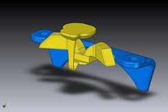 CAD model used for 3D printing