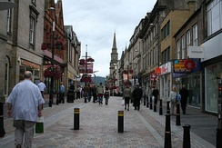 Inverness High Street heading towards Church Street