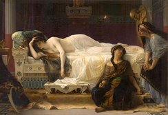 Phaedra agonizing over her love for Hippolytus. Phèdre by Alexandre Cabanel