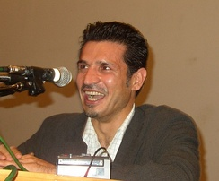 Ali Daei, the world's all-time leading goal scorer in international matches and the former captain of the Iran national football team.