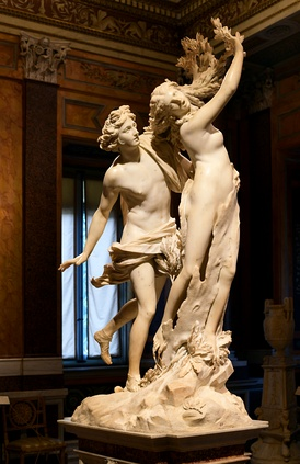 Apollo and Daphne by Bernini in the Galleria Borghese