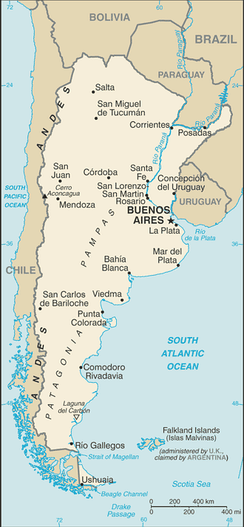A map of Argentina