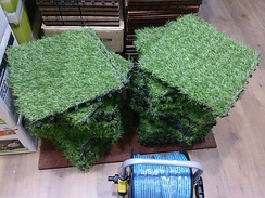 Artificial turf square mats