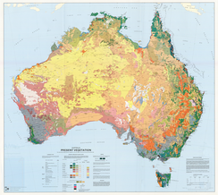 Major vegetation groups in Australia from the 2009 Atlas of Australian Resources