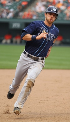 Zobrist during his tenure with the Tampa Bay Rays in 2011
