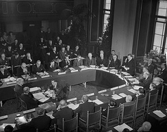 Meeting of Benelux delegates in The Hague, 1949