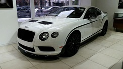 A Bentley Continental GT3-R at Gold Coast Auto Gallery in Chicago, Illinois