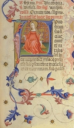 Saint Lucy depicted in the Breviarium of Martin of Aragon