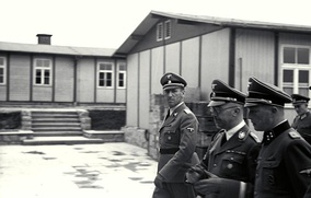 Kaltenbrunner with Himmler and Ziereis at Mauthausen in April 1941
