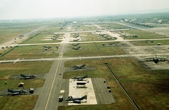 An aerial photo of Clark Airbase in Central Luzon