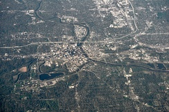 Aerial view of Des Moines, 2012