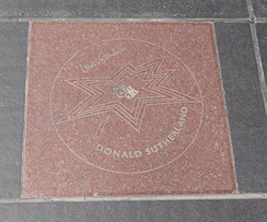 Sutherland's star on Canada's Walk of Fame