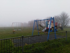 Enclosed children's play area at Eastward Ho!, Felixstowe. Location is featured in the music video.
