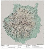 Topography of Gran Canaria