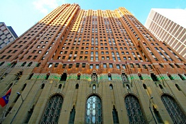 The Guardian Building, is an example of Art Deco architecture, including art moderne designs.