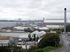 HMNB Devonport – the largest operational naval base in Western Europe.[96]