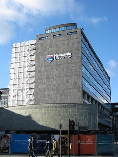 The Herschel Building, home to the School of Mathematics, Statistics and Physics, and several of the University's largest lecture theatres