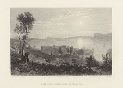 View from afar, 1857 engraving