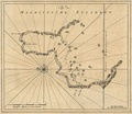 1753 Van Keulen Map of Huvadu Atoll (inaccurate)