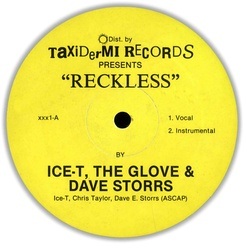 "Ice-T released a string of electro-influenced records, including the 1984 single ""Reckless"" (pictured), before recording gangsta rap music."