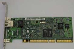 1000BASE-T capable network interface card made by Intel, which connects to the computer via PCI-X