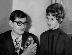 Ryun with wife in 1971