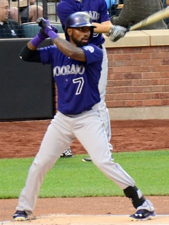 Reyes with the Rockies in 2015
