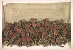 The Warsaw Confederation passed by the Polish national assembly (Sejm Konwokacyjny), extended religious freedoms and tolerance in the Commonwealth, and was the first of its kind act in Europe, 28 January 1573.