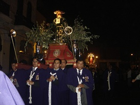Holy Monday Procession in Lima, Peru