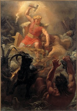 Thor's Fight with the Giants (1872) by Mårten Eskil Winge was made during the Viking revival.