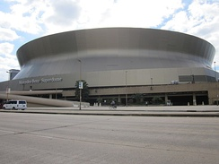 "The inscription ""Mercedes-Benz Superdome"" went on to the sides of the stadium in late October 2011"