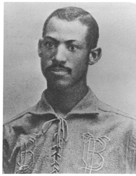 Moses Fleetwood Walker of the Toledo Blue Stockings, circa 1884.