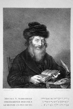 Moses Sofer of Pressburg, considered the father of Orthodoxy in general and ultra-Orthodoxy in particular.