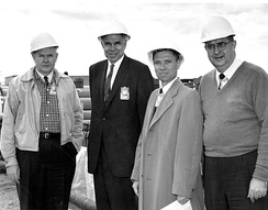 Seaborg (second from left) during Operation Plumbbob