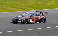 Michael Krumm and Lucas Luhr won the 2011 FIA GT1 World Championship in a JR Motorsports Nissan GT-R GT1.