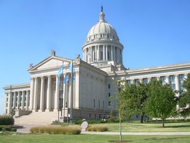 The Oklahoma State Capitol in Oklahoma City