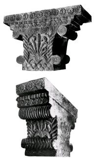 The Hellenistic Pataliputra capital, discovered in Pataliputra, capital of the Maurya Empire, dated to the 3rd century BC.