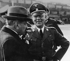 Laval with the head of German police units in France, Carl Oberg