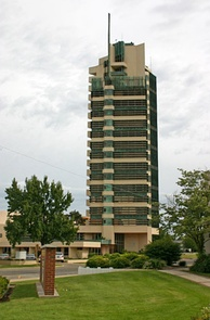 Price Tower in Bartlesville, Oklahoma (1956)