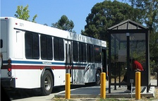 VTA bus arriving at Foothill College in Los Altos Hills
