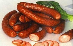 Smoked sausages from Harbin, China