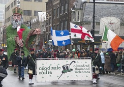 Montreal hosts one of the longest-running and largest St Patrick's Day parades in North America.