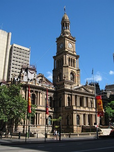 The Sydney Town Hall, seat of the City Council