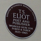 A plaque at SOAS's Faber Building, 24 Russell Square, London
