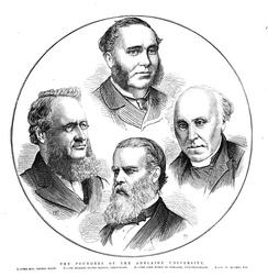 The founders of the Adelaide University(1875 engraving, Illustrated Australian News for Home Readers)
