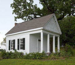 Schoolhouse for the owner's children at Thornhill near Forkland, Alabama