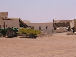 Remains of the former Spanish barracks in Tifariti after the Moroccan air strikes in 1991.
